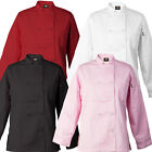 Dickies Bettina Women's Chef Coat, Flattering Fit 10 Button Chef Jacket DC115