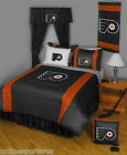 Philadelphia Flyers Bed in Bag Curtains Valance Twin Full Queen King Size