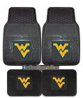 West Virginia Mountaineers Car Truck Mats 2-PC or 4-PC Heavy Duty Vinyl
