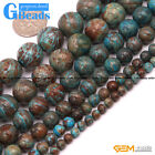 Blue Crazy Lace Agate Round Beads For Jewelry Making Free Shipping Strand 15""