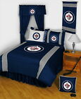Winnipeg Jets Bed in a Bag Curtains & Valance Twin Full Queen King Size