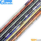 4x12mm Assorted Stone Column Tube Beads For Jewerly Making Free Shipping 15""