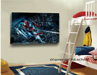 Spider-Man Stretched Canvas Print Framed Kid Wall Art Cartoon Painting Spiderman