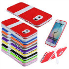 Holder Skins Support TPU Soft Plastic Stand Bumper Case Cover For Samsung Galaxy