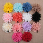 DIY 3/20PCS Lot Baby Girls Flower Headband Corsage Ribbon Bow No Clip 14 colors
