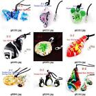g814p20 Fashion Animal Lampwork Glass Murano Bead Pendant Necklace Earrings set