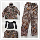 Waterproof outdoor bionic camouflage suits hunting clothes Jacket and Pants