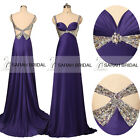Backless Spaghetti Empire Evening Prom Dresses Bridal Wedding Party Gowns Sexy