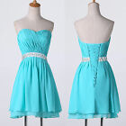 Chiffon Formal Dancing Cocktail Evening Party Homecoming MINI Short Prom Dresses
