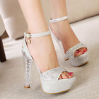 Luxury Crystal Silver Mary Janes With Cross Party Dress Wedding Shoes High heel