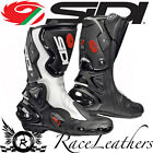 CLEARANCE SIDI VERTIGO BLACK WHITE SPORTS TOURING MOTORCYCLE MOTORBIKE BOOTS