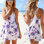 Women Sexy Summer Cocktail Party Evening Casual Floral Strap Short Mini Dress