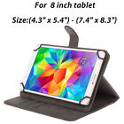 "360 Rotating Stand Folio PU Leather Folding Case Cover Skin for 7"" 8"" 10"" Tablet"