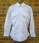 NEW MOD SURPLUS POLICE LADIES WHITE LONG SLEEVE OR SHORT SLEEVED SHIRT,BUTTONED