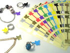 Butterfly Jewellery Price Stickers 16 X 54mm Tags / Labels / Dumbells / Jewlry