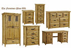 Salto Rustic Solid Waxed Pine Bedside chest of Drawers or Wardrobe