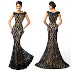 2015 Formal Mermaid Lace Wedding Party Gown Prom Evening Long Guest Mother Dress