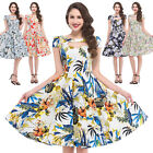 KNEE-Length Vintage 50s 60s Swing Housewife Pinup Rockabilly PROM Evening Dress