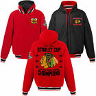 Chicago Blackhawks 6 Times Stanley Cup Champions Reversible Fleece Jacket JHD