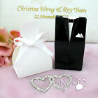 Wedding Party Favor Gift Candy Boxes Bride & Groom Gown Tuxedo