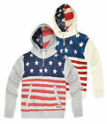 Boys USA Hoodie New Kids American Stars And Stripe Hooded Sweatshirt Ages 2-8