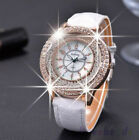 NEW Fashion Ladies Leather Crystal Diamond Rhinestone Watches Quartz Wristwatch