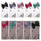3D Cute Bow Knot Bling Rhinestones Clear Hard Back Case Cover for iPhone 6 4.7""