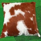 New Cowhide Pillow Cover/Shell Hair On Leather Cushion Cow Hide Western P13