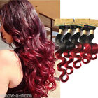 1B BURG# Ombre Body Wave Real Human Hair Extension 50g/Bundle Brazilian Weave