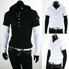 Stylish Men's Hoodie Short Sleeve T-Shirts New Slim Fit Tee Casual Tops