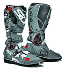 SIDI CROSSFIRE 2 WHITE GREY MOTORCYCLE OFF ROAD MOTO-X MX ENDURO BOOTS