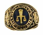 Made in USA New 18KTGP Security Officer Signet Ring - Sizes 7-15