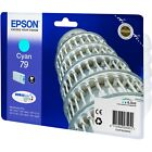 NEW GENUINE EPSON 79 TOWER OF PISA SERIES CYAN INK CARTRIDGE (C13T79124010)