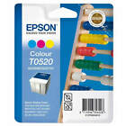 GENUINE EPSON T0520 ABACUS SERIES COLOUR INK CARTRIDGE TWIN PACK (C13T05204010)