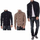 Mens Soulstar Casual Knit Buttoned Up Long Sleeve Loose Cardigan Jumper Jacket