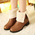 Martin Boots Women Shoes Block Low Heel Cotton Winter Warm Ankle UK Size F041