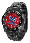 Mississippi Rebels Watch Fantom Gunmetal Anochrome Ladies Mens Red Dial