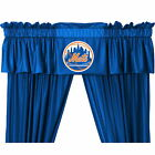 New York Mets Drapes Curtains & Valance Set with Tie Backs