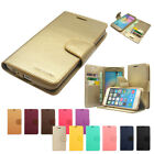 Sonata Diary Kickstand Slim Flip Leather Wallet Case Cover For iPhone Galaxy LG