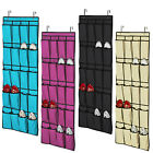 20 Pockets Over Door Cloth Shoe Organizer Hanging Hanger Closet Space Storage EA