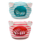 KOJIMA-New Soft Stripe Cat Head Pet Bed for Dog Cat with Candy Pillow