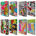 HEAD CASE DESIGNS STICKER HAPPY LEATHER BOOK WALLET CASE COVER FOR APPLE iPAD