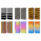 HEAD CASE DESIGNS DYNAMIC STRIPES LEATHER BOOK CASE FOR APPLE iPHONE PHONES