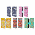 HEAD CASE DESIGNS MANDALA LEATHER BOOK WALLET CASE COVER FOR SAMSUNG PHONES 1
