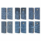 HEAD CASE DESIGNS PRINTED DENIM LEATHER BOOK WALLET CASE FOR SAMSUNG PHONES 1
