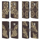 HEAD CASE DESIGNS HENNA LEATHER BOOK WALLET CASE COVER FOR SAMSUNG PHONES 1