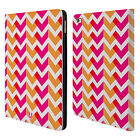 HEAD CASE DESIGNS NEON CHEVRON LEATHER BOOK WALLET CASE COVER FOR APPLE iPAD
