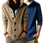 Fashion Mens Thicken Button Cardigan Sweater Casual Jacket Tops Warm Coat Jumper