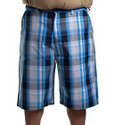 Southpole Collection Men's Big & Tall Casual Basic Plaid Shorts