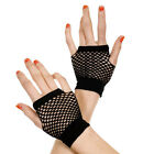 1 Pair Hot Punk Fishnet Gloves Fingerless Wrist Length Women's Costume Party